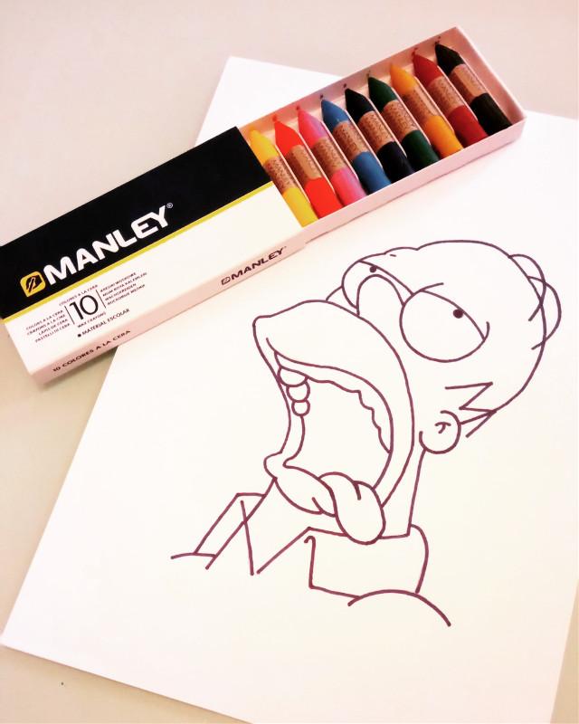 Mi dulce dulce CUUU... #drawing #ink #theprometeus #illustration #thesimpsons