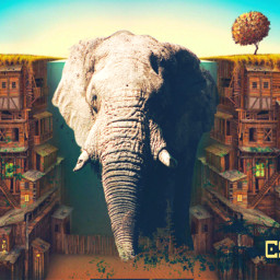 freetoedit elephant dailyremixmechallenge remixit surrealart