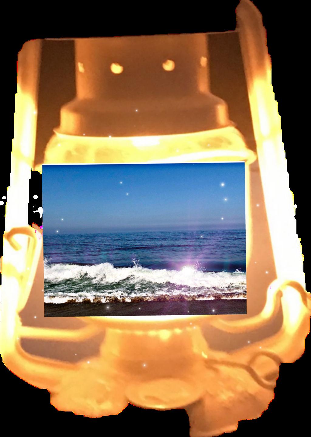 #beach in a lantern