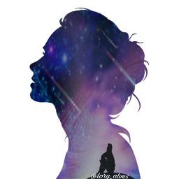 freetoedit galaxia mulher homem sentado