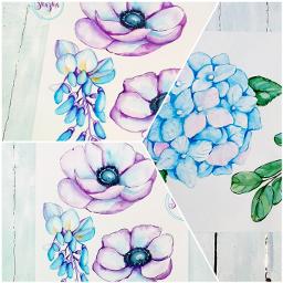 watercolor aquarelle drawing logo watercolorflower