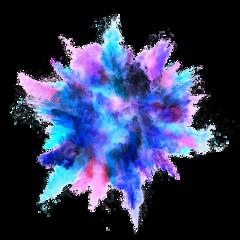 ftestickers powderexplosion smoke dust colorful freetoedit