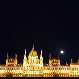 budapest skyline night city travel