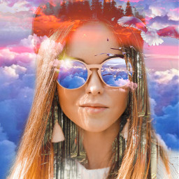 freetoedit sky skyscraper glassesgirl