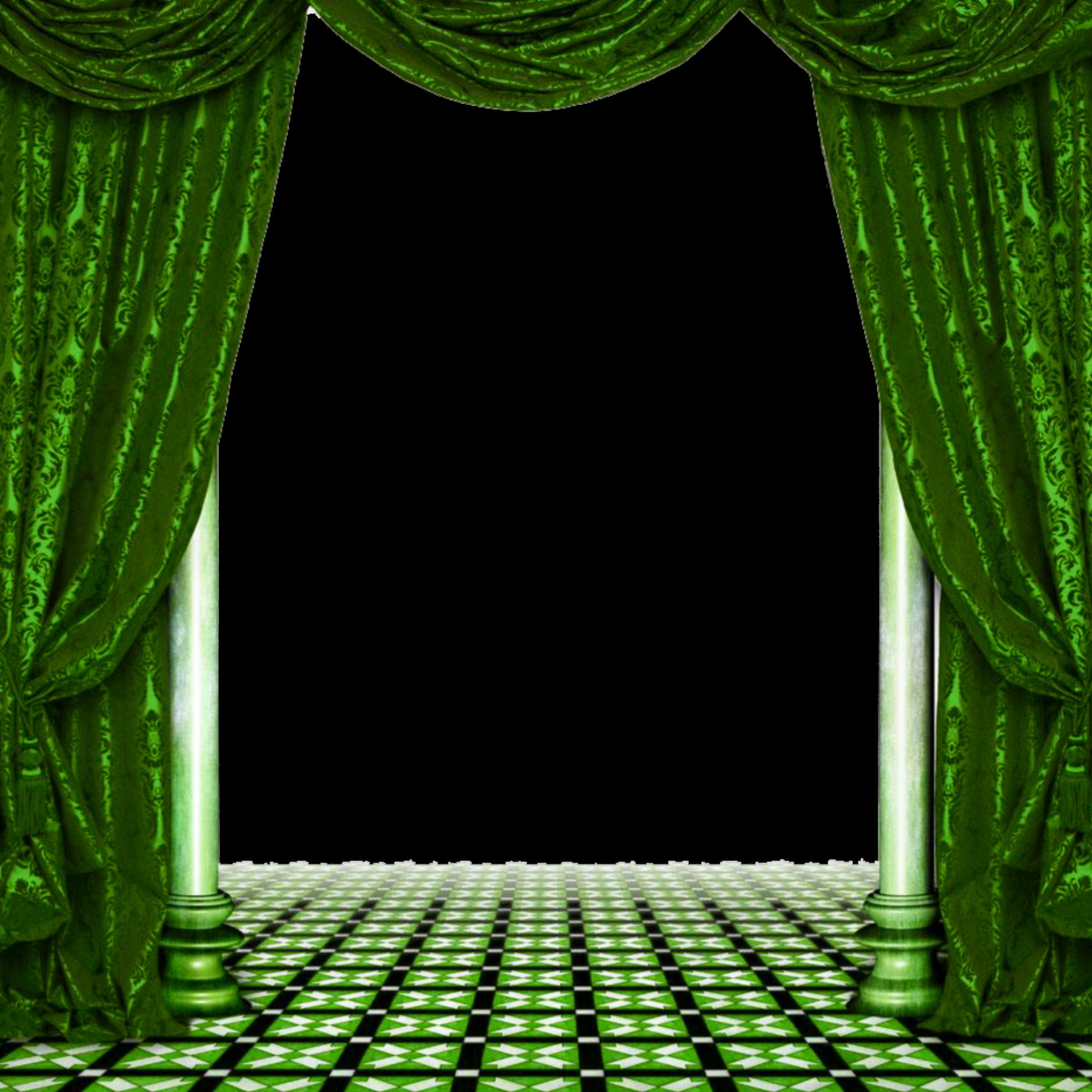 Mq Green Curtains Livingroom Sticker By Marras