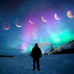 freetoedit moonphases northernlights
