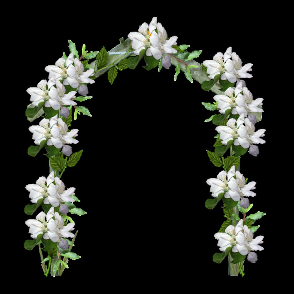 Mq White Flowers Arch Garden Sticker By Marras