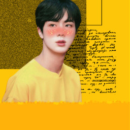 freetoedit Bts jin seokjin kimseokjin bangtanseonyeondan bangtanboys jinnie yellow jinbts idol