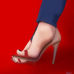 mydrawing drawnwithpicsart heels redandblue freetoedit