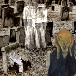 freetoedit scream cemetary ghost spooky scary ircfineartfridayem