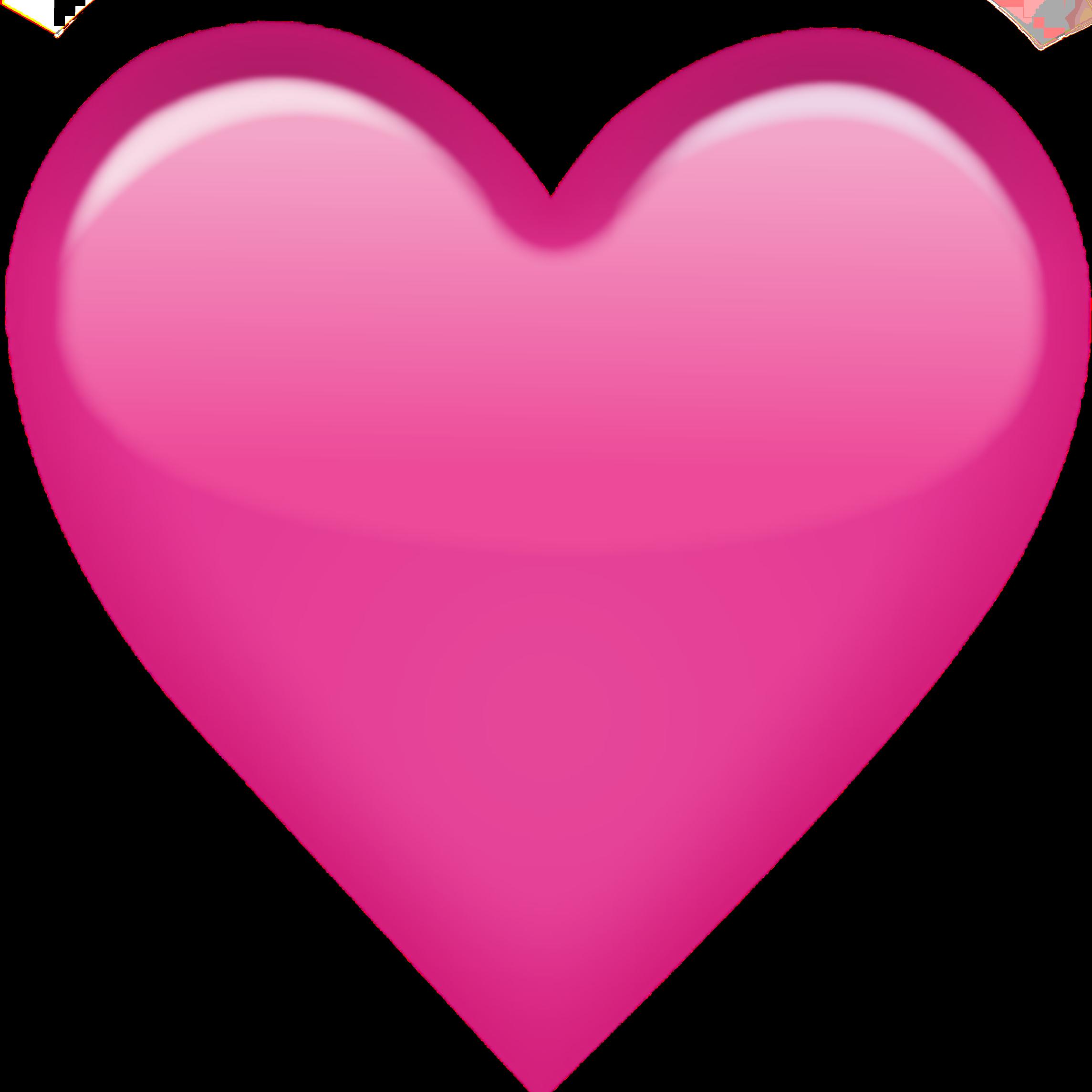 Pink Heart Emoji Love