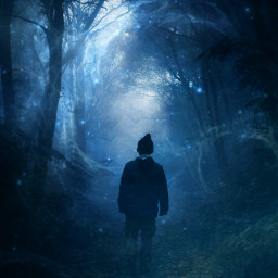 freetoedit galaxy galaxyedit forest man