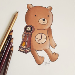 clock 🐻🐻🐻 adventuretime cartoonnetwork freetoedit clockbear