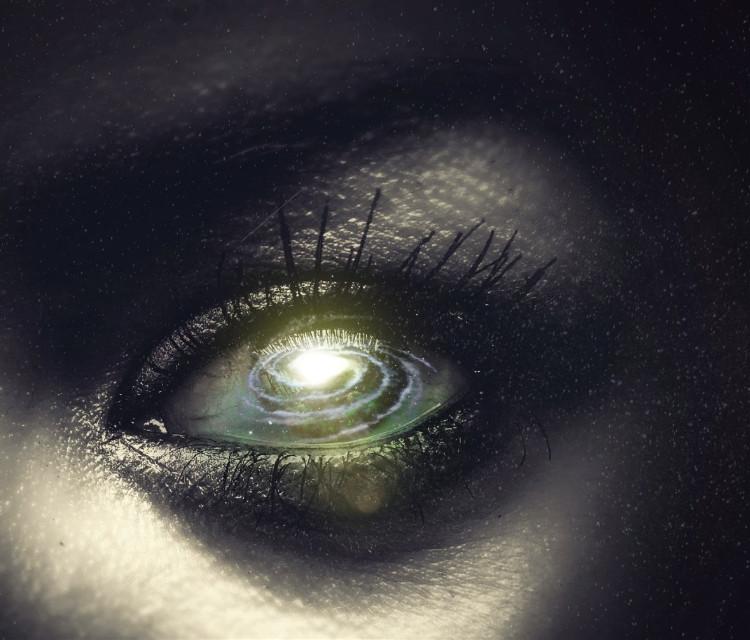 #freetoedit #eye #galaxy #surreal #picsart #stars #light #glare #pupil #universe #depth #doubleexposure