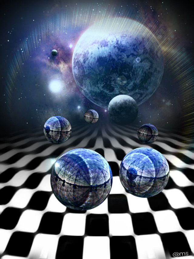 #freetoedit #chess #galaxy #spheres #planets #space #lensflare #myedit
