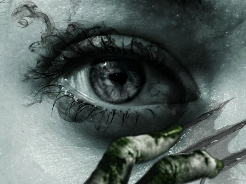 #freetoedit #blackandwhite #scary #eye Op @flyinglily @qoutesforlife