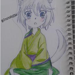 drawing myowndrawing drawnbyhand tomoe kamisamahajimemashita freetoedit