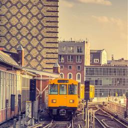 freetoedit train city picsart remix