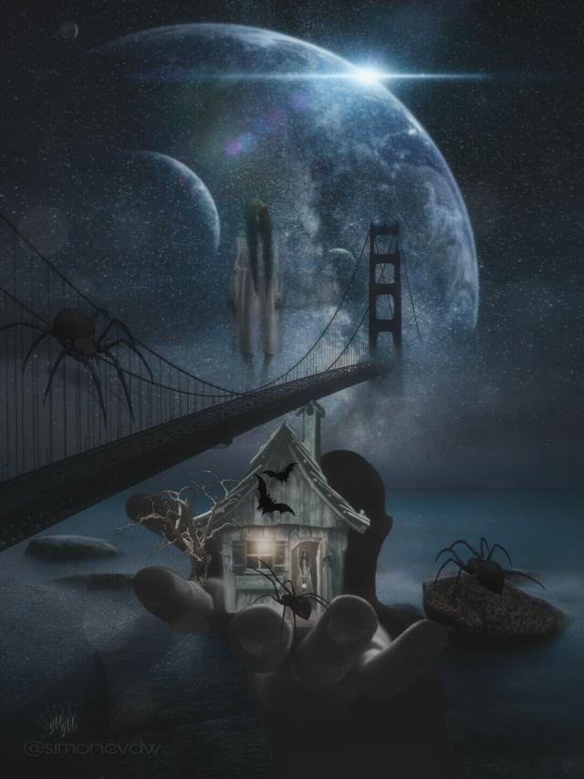 #editbyme #imagination #surreal #bridge #darkart #darkness #halloween