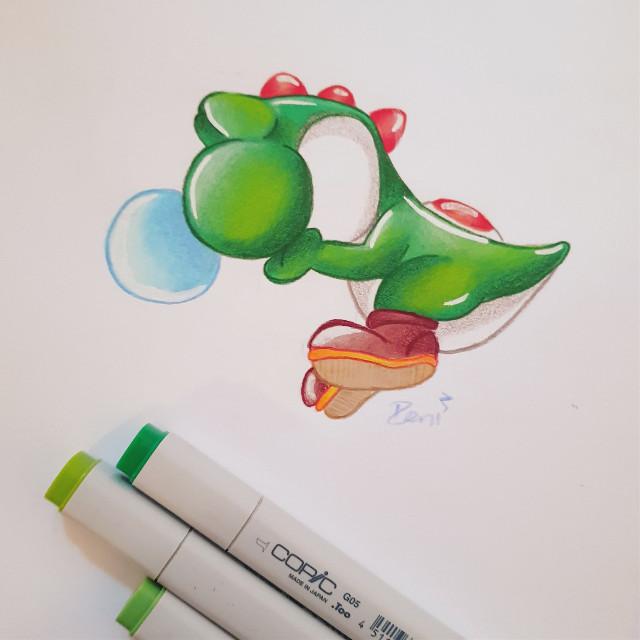 Day 21: #drain  This is me 24/7  #yoshi #mario #marioworld #nintendo #inktober #inktober2018 #drawing #art #pencildrawing #traditionalart #illustration #copicmarkers #prismacolorpencils   #freetoedit