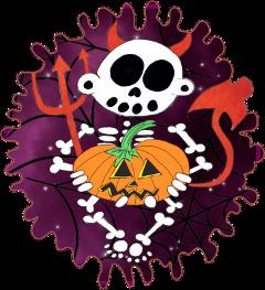 zanoskull skeleton skull halloween spooktober freetoedit