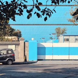 pastel blue street flat freetoedit