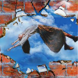 freetoedit woman levitation surrealart surrealistgate irclevitatinglady