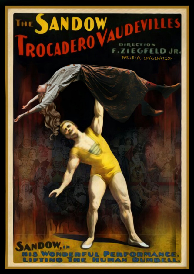 🏆🏆6TH PLACE LEVITATING LADY🏆 (THANK YOU SO MUCH EVERYONE FOR YOUR SUPPORT AND KINDNESS!)  EDIT BY: PARIETAL IMAGINATION ART Affiche Prints Remix #strongman #circus #magicfx  #freetoedit #crowds #vintage #poster #TH3  #irclevitatinglady
