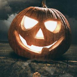 freetoedit halloween pumpkin surrealism hollowen