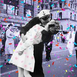 freetoedit blackandwhite kiss eccolorizephotos colorizephotos