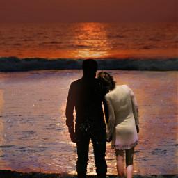 memory truelove sunset love couple freetoedit