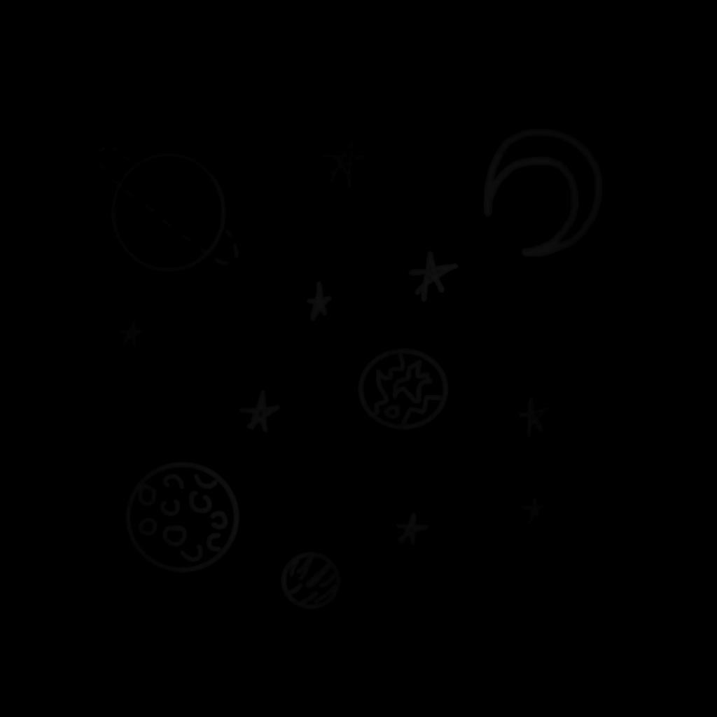Doodle Space Black Tumblr Simple Star Stars Planet