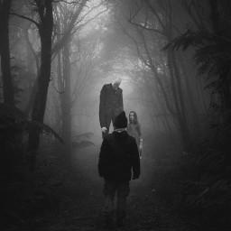 horrorart horror slanderman freetoedit ircintothehauntedforest
