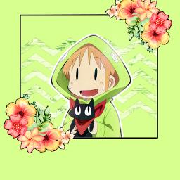 freetoedit anime nichijou sakamoto