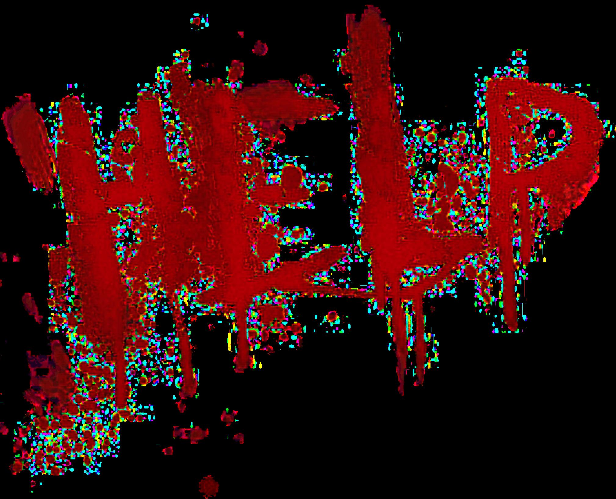 Help Gruge Blossom Blood Sticker By Pandinha Sad