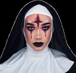 halloween nun costume makeup cosplayer