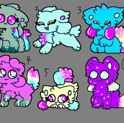 kittydog rainbow galaxy adopt colorpaint
