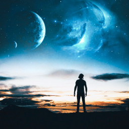 freetoedit galaxy sky planet universe digitalart