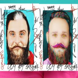 freetoedit twobeards twomen frames colouring ircmovemberkickoff