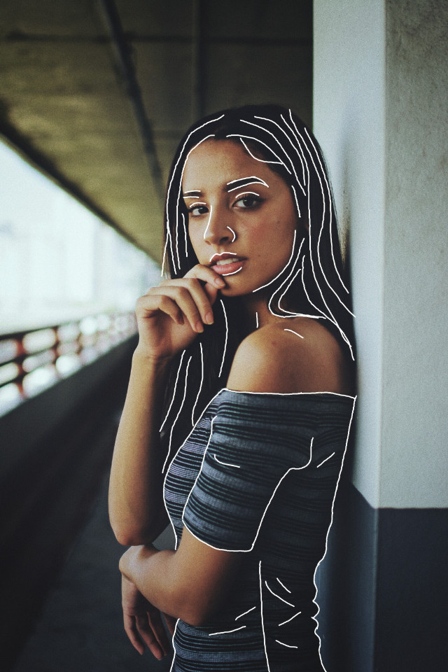 #freetoedit #girl #chica #outline #contorno #contour #tumblr #tumblrgirl #chicatumblr
