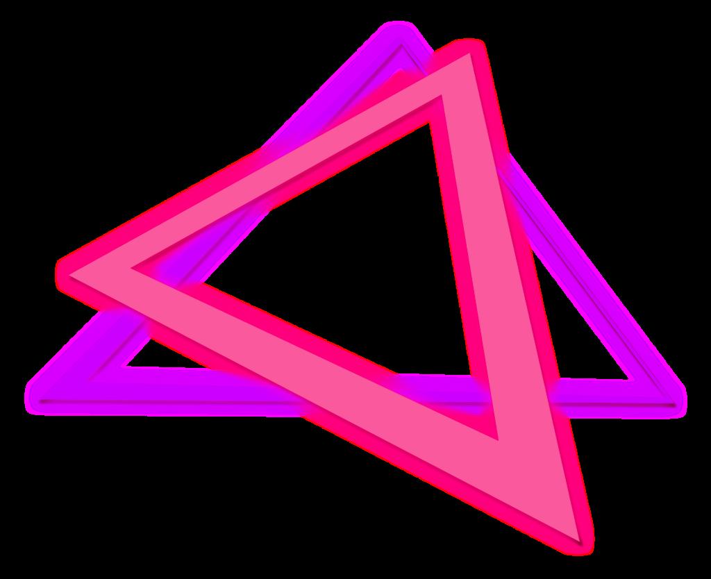 T⃤ R⃤ I⃤ A⃤ N⃤ G⃤ L⃤ E⃤ triangle neon glow effect neon