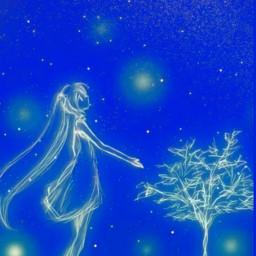 freetoedit girl stars luminous glowing