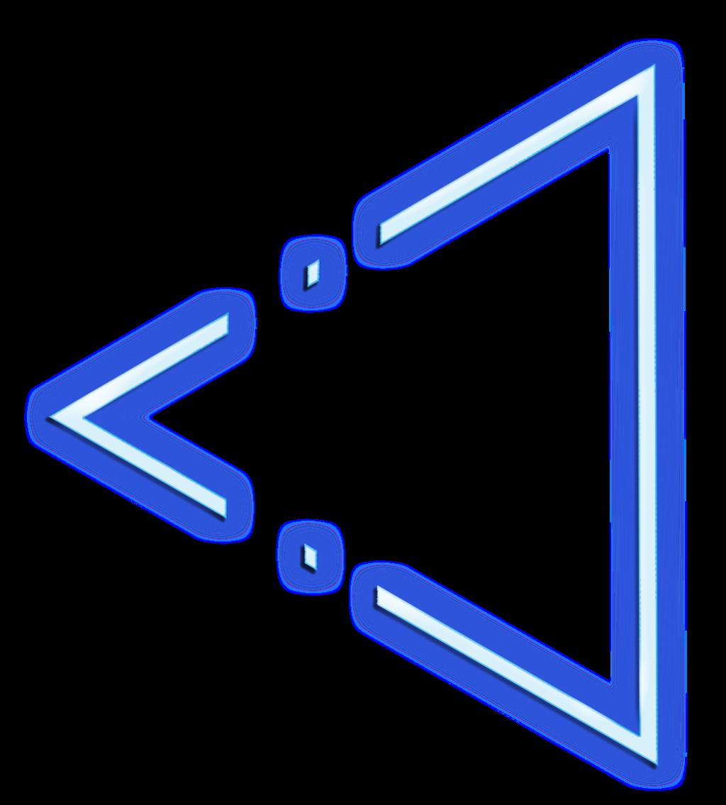 T⃤ R⃤ I⃤ A⃤ N⃤ G⃤ L⃤ E⃤ triangle neon glow effect