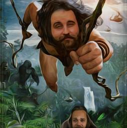 freetoedit tarzan jungle gorilla ircmovemberkickoff