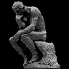 statue thethinker augusterodin fineartfriday freetoedit