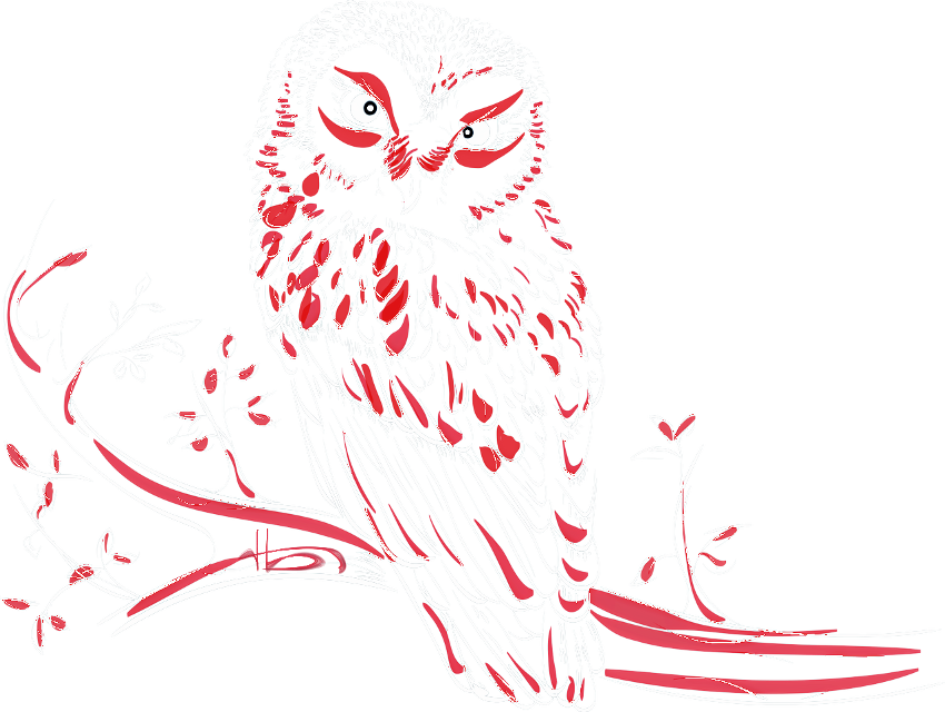 #owl #eagle owl #red #white #fantastic #tree #branch #animal #wildanimal