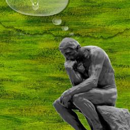 freetoedit fineartfriday statue thinker ideas ircfineartfridayar