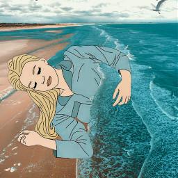 freetoedit mixedmedia sea illustration