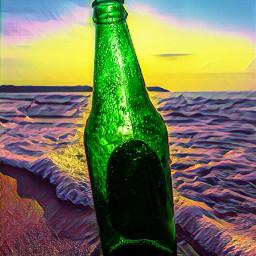 bottle beachsunset home edition beach