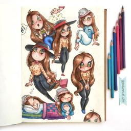 freetoedit throwback art girls cute